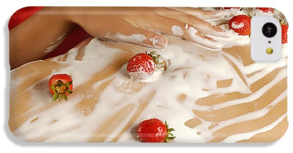 Sexy Nude Woman Body Covered With Cream And Strawberries IPhone 5c Case by Oleksiy Maksymenko