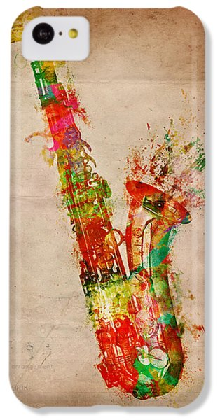 Saxophone iPhone 5c Case - Sexy Saxaphone by Nikki Smith