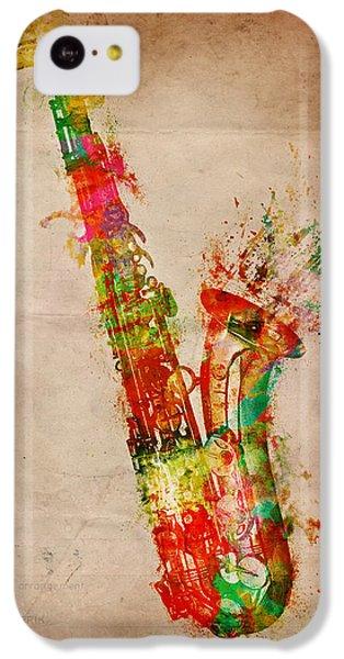 Saxophone iPhone 5c Case - Sexy Saxaphone by Nikki Smith