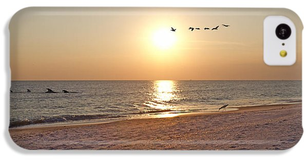 Shackleford Banks Sunset IPhone 5c Case by Betsy Knapp