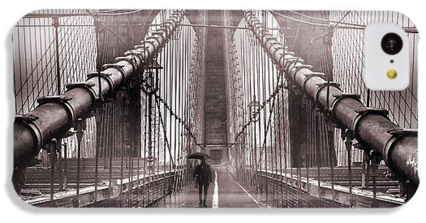 Brooklyn Bridge iPhone 5c Case - Shadow Man by Az Jackson