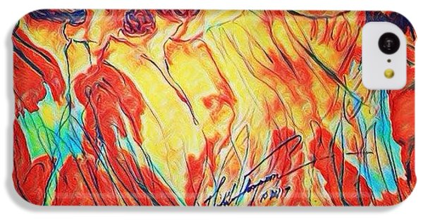 iPhone 5c Case - Shadrach, Meshach And Abednego In The Fire With Jesus by Love Art Wonders By God