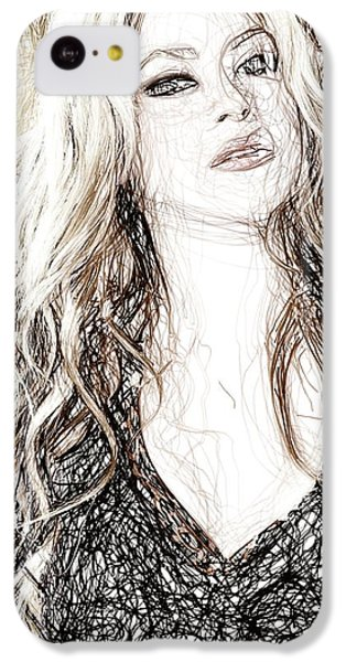 Shakira - Pencil Art IPhone 5c Case by Raina Shah