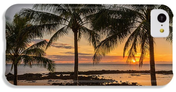 Sharks iPhone 5c Case - Sharks Cove Sunset 4 - Oahu Hawaii by Brian Harig