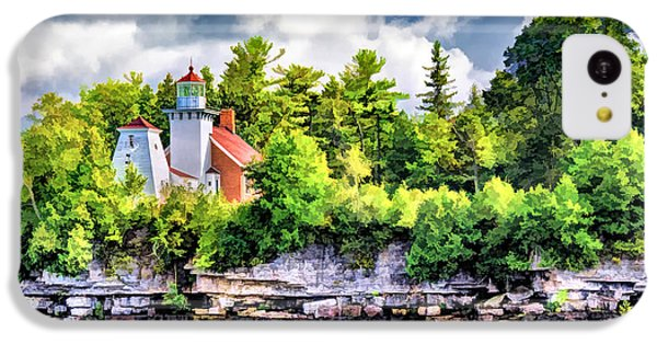 IPhone 5c Case featuring the painting Sherwood Point Lighthouse by Christopher Arndt