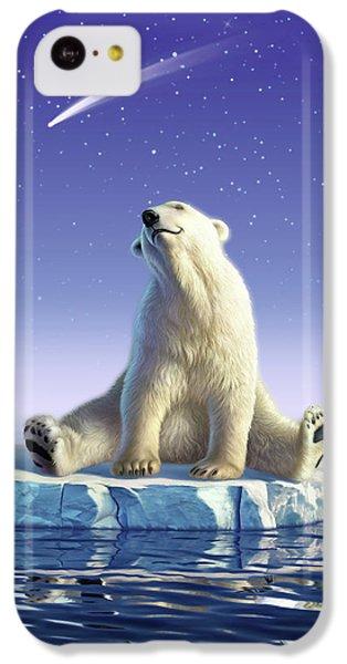 Polar Bear iPhone 5c Case - Shooting Star by Jerry LoFaro
