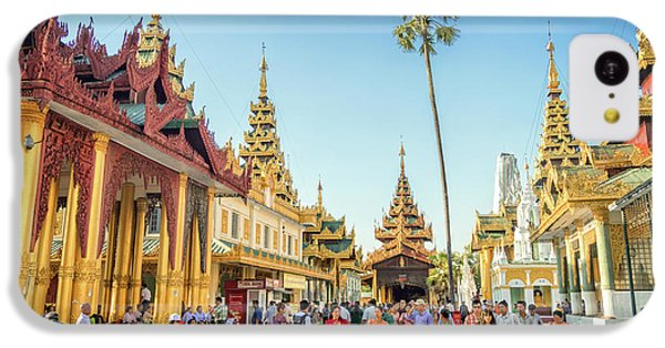 Burmese Python iPhone 5c Case - Shwedagon Pagoda by Delphimages Photo Creations