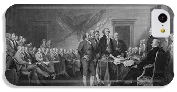 Thomas Jefferson iPhone 5c Case - Signing The Declaration Of Independence by War Is Hell Store