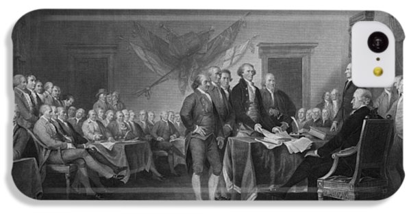 Signing The Declaration Of Independence IPhone 5c Case by War Is Hell Store