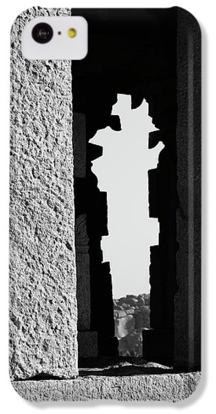 IPhone 5c Case featuring the photograph Silhouette Of Pillars, Hampi, 2017 by Hitendra SINKAR