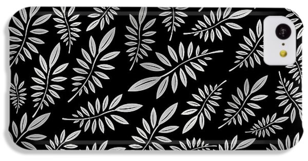 Floral iPhone 5c Case - Silver Leaf Pattern 2 by Stanley Wong