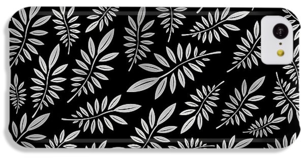 Silver Leaf Pattern 2 IPhone 5c Case by Stanley Wong