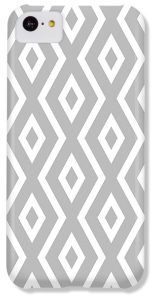 Beach iPhone 5c Case - Silver Pattern by Christina Rollo
