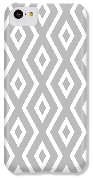 Silver Pattern IPhone 5c Case by Christina Rollo
