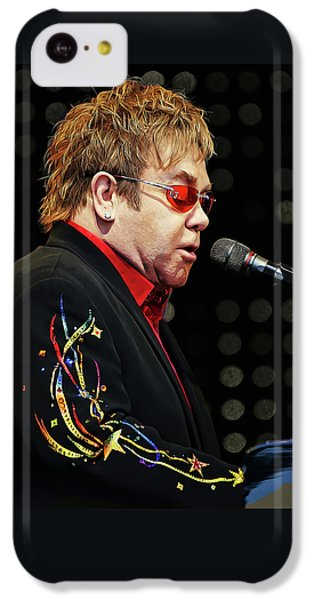 Sir Elton John At The Piano IPhone 5c Case by Elaine Plesser
