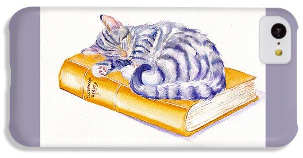 Cat iPhone 5c Case - Sleeping Beauty by Debra Hall