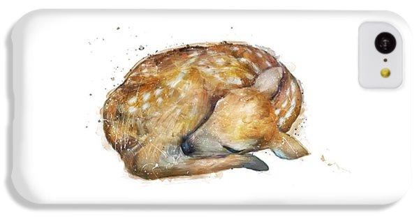 Deer iPhone 5c Case - Sleeping Fawn by Amy Hamilton
