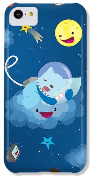 Sleepy In Space IPhone 5c Case by Seedys