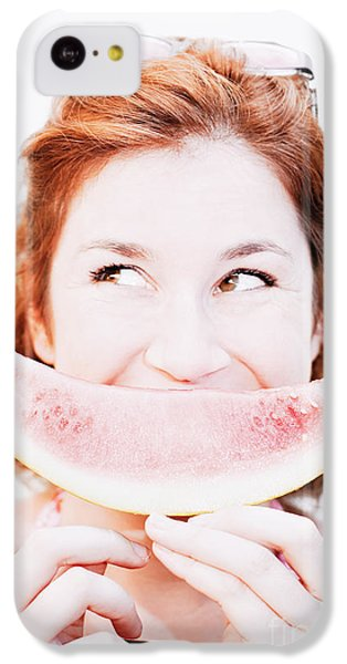 Smiling Summer Snack IPhone 5c Case by Jorgo Photography - Wall Art Gallery