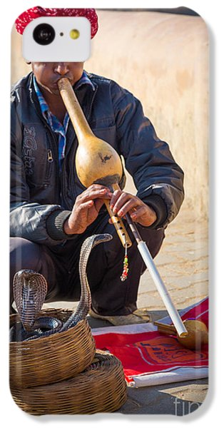Snake Charmer IPhone 5c Case by Inge Johnsson