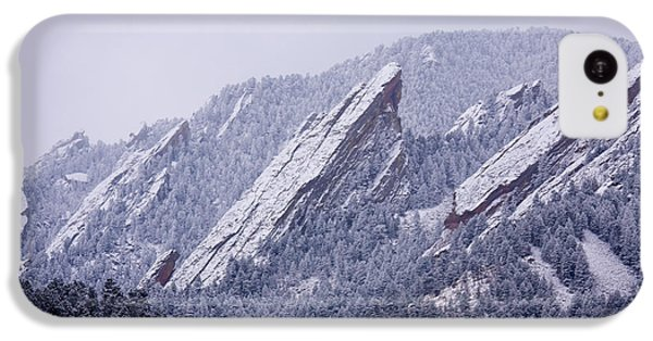 Snow Dusted Flatirons Boulder Colorado IPhone 5c Case