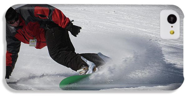 IPhone 5c Case featuring the photograph Snowboarder On Mccauley by David Patterson