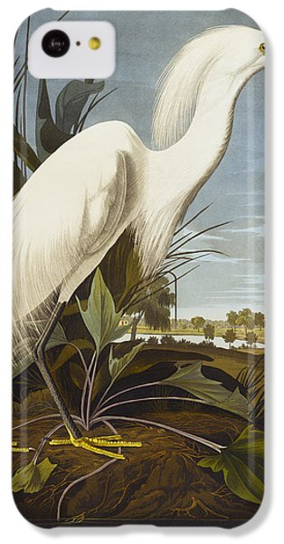 Snowy Heron IPhone 5c Case by John James Audubon