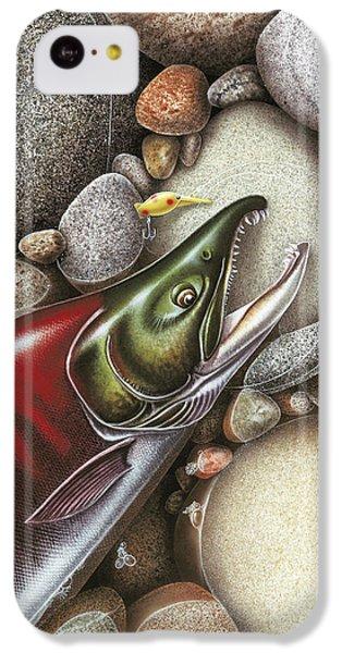 Salmon iPhone 5c Case - Sockeye Salmon by JQ Licensing