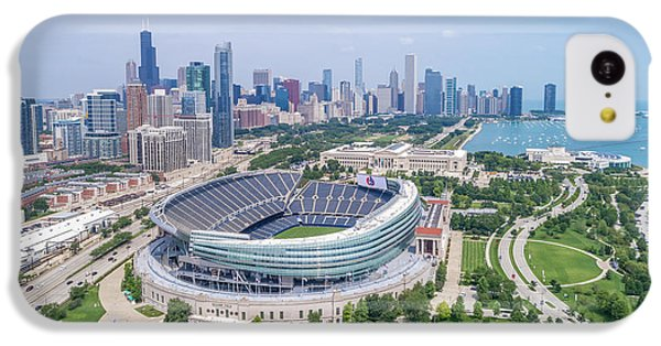 Helicopter iPhone 5c Case - Soldier Field by Sebastian Musial