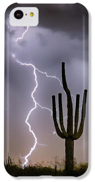 IPhone 5c Case featuring the photograph Sonoran Desert Monsoon Storming by James BO Insogna