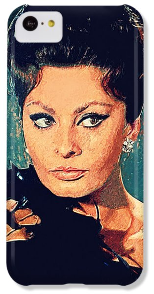 Sophia Loren IPhone 5c Case by Taylan Apukovska