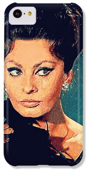Sophia Loren IPhone 5c Case by Taylan Apukovska