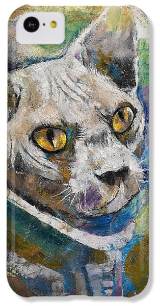 Astronauts iPhone 5c Case - Space Cat by Michael Creese