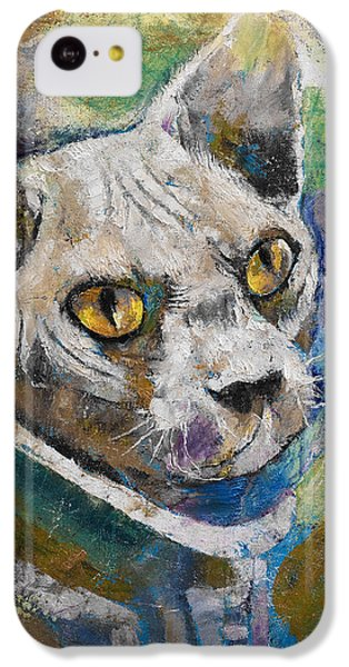 Space Cat IPhone 5c Case by Michael Creese