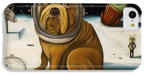 Dog iPhone 5c Case - Space Crash by Leah Saulnier The Painting Maniac
