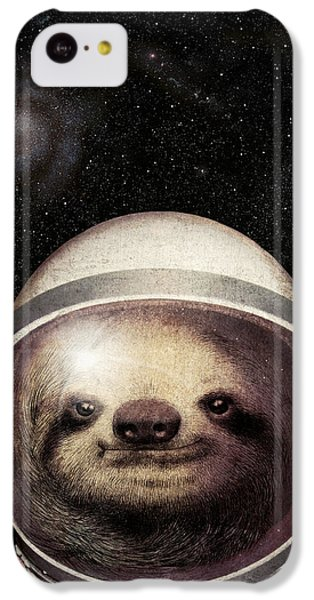 Space Sloth IPhone 5c Case by Eric Fan