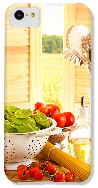 Spaghetti And Tomatoes In Country Kitchen IPhone 5c Case by Amanda Elwell