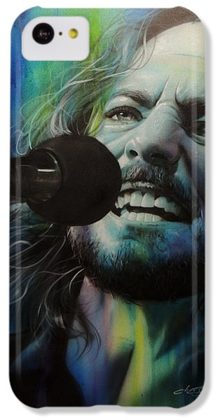 Eddie Vedder - ' Spectrum Of Vedder ' IPhone 5c Case by Christian Chapman Art