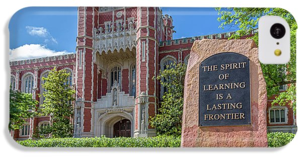 Oklahoma University iPhone 5c Case - Spirit Of Learning Statue At The University Of Oklahoma  by Ken Wolter