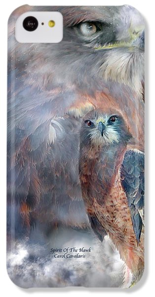 Spirit Of The Hawk IPhone 5c Case by Carol Cavalaris