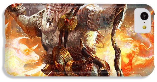 Minotaur iPhone 5c Case - Spiritcaller Shaman by Ryan Barger