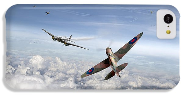 IPhone 5c Case featuring the photograph Spitfire Attacking Heinkel Bomber by Gary Eason