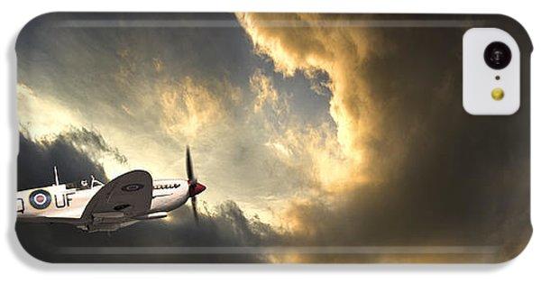 Airplane iPhone 5c Case - Spitfire by Meirion Matthias