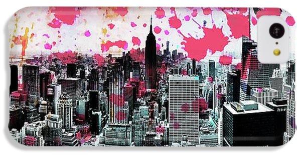 Empire State Building iPhone 5c Case - Splatter Pop by Az Jackson