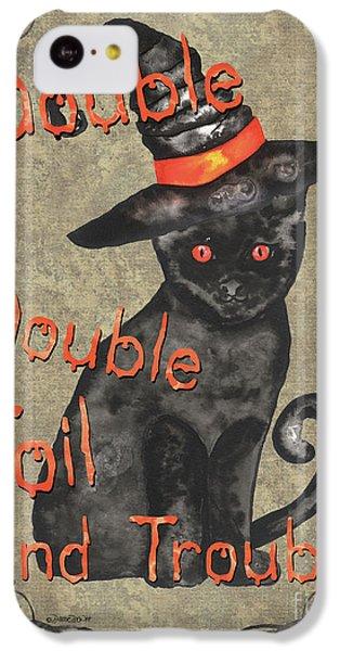 Bat iPhone 5c Case - Spooky Pumpkin 3 by Debbie DeWitt
