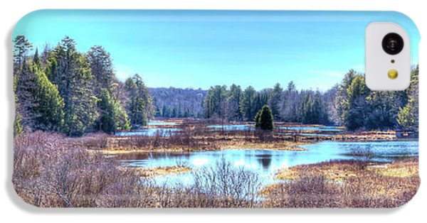 IPhone 5c Case featuring the photograph Spring Scene At The Tobie Trail Bridge by David Patterson