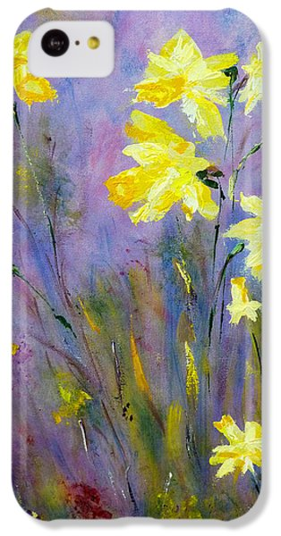 IPhone 5c Case featuring the painting Spring Daffodils by Claire Bull