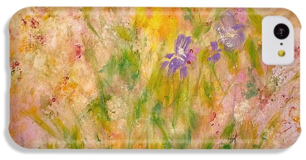 IPhone 5c Case featuring the painting Spring Meadow by Claire Bull