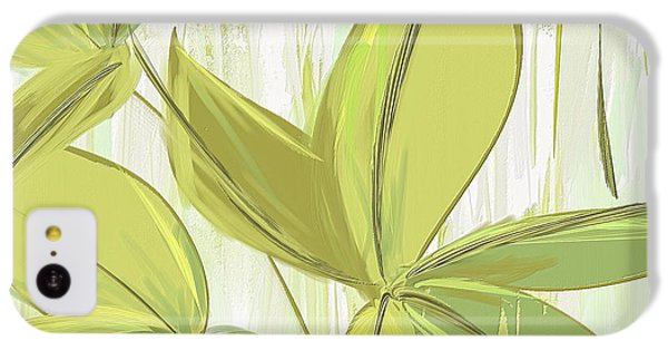 Spring Shades - Muted Green Art IPhone 5c Case by Lourry Legarde