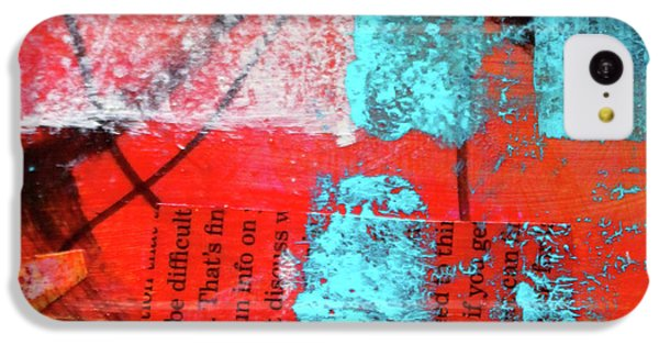IPhone 5c Case featuring the mixed media Square Collage No. 10 by Nancy Merkle